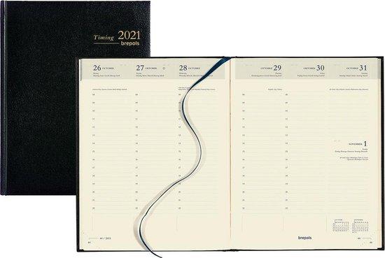 Afbeelding van Brepols Agenda 2021 • Timing • Lima • 17,1 x 22 cm • Zwart