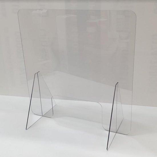 Plexiglas scherm 60x60 cm | Toonbank spatscherm | Preventiescherm | VitrineMedia