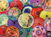 Puzzel 1000 stukjes-Asian Oil Paper umbrellas