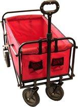 Kynast bolderwagen/bolderkar - max. 70kg - rood