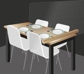 Plexiglas coronascherm horeca tafelmodel  100x75 cm 4 mm - Preventiescherm - In houten balk