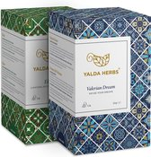 Combipack van Valerian Dream en Elixir-2 Doosjes van Yalda Herbs Kruidenthee-36 piramide Theezakjes