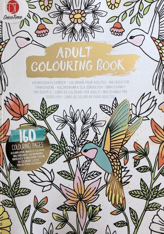 Afbeelding van Volwassen kleurboek vogel - Kleuren - Kleurboek