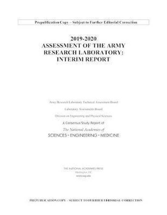 2019-2020 Assessment of the Army Research Laboratory