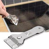 Glaskrabber schraper voor reinigen Keramische,  Inductie, Halogeen, Kookplaat + 5 reservemessen