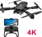 Professionele Smart Drone met camera – 4K Full HD Dual Camera – Foto- zwart – Video -  Inklapbare Drone - 180 verstelbare camera - extra accu - 30 min vliegtijd!