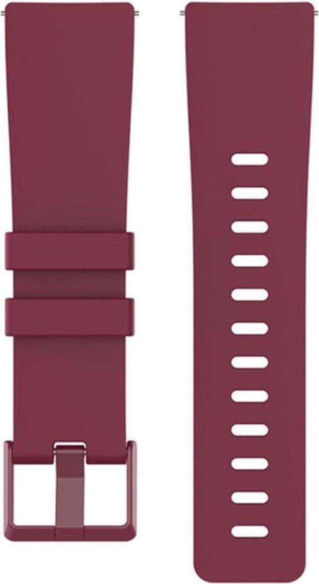   Shop4 Fitbit Versa Bandje Small Siliconen Rood