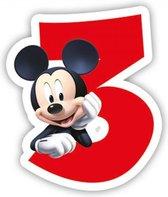 Mickey Mouse Kaars 3 jaar