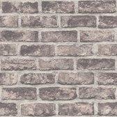 Exposure baksteen bruin effen (vliesbehang, bruin)