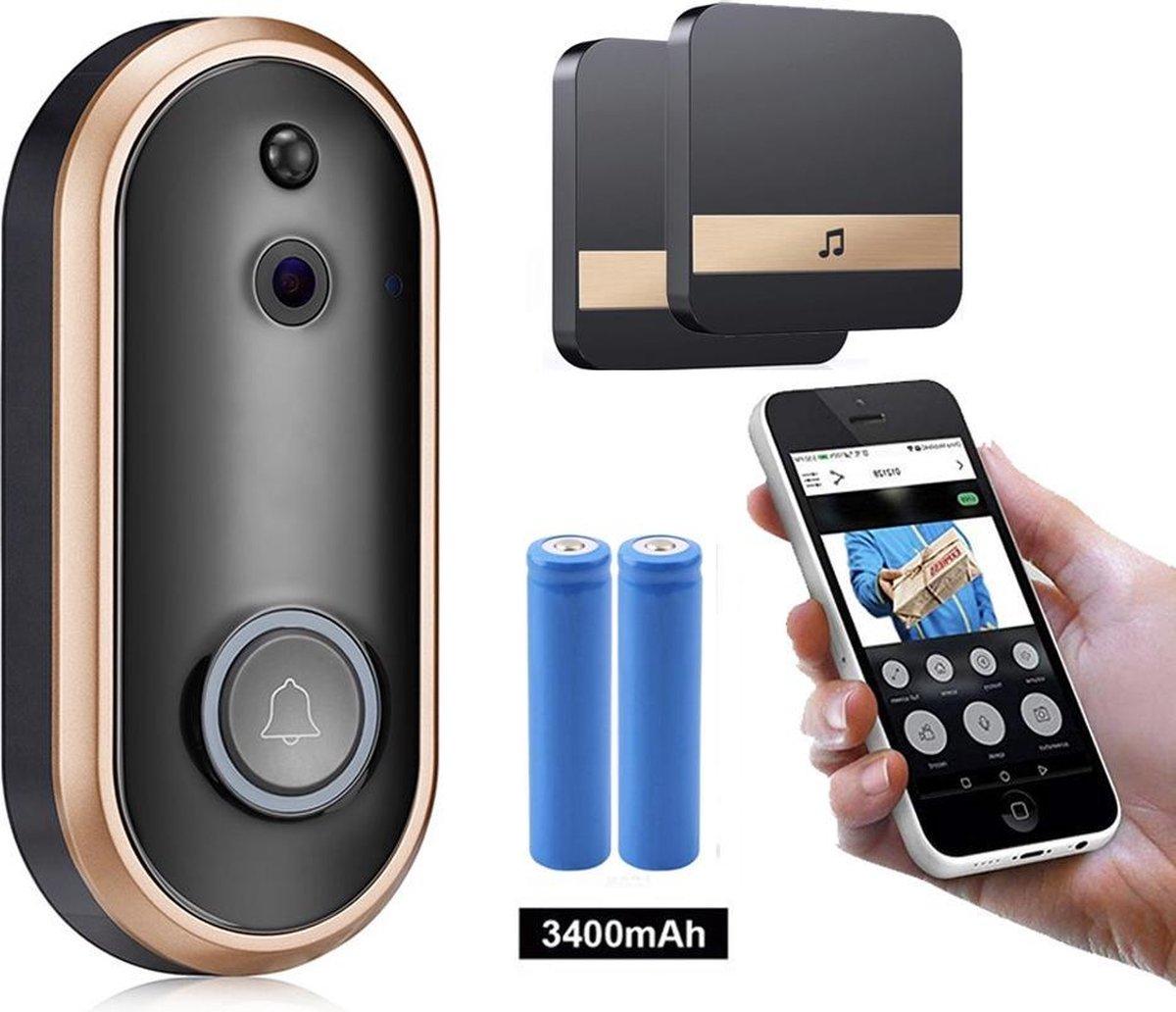BELIFE® Smart Home Videodeurbel- Draadloze video deurbel - Full HD WiFi deurbel - Slimme Deurbel