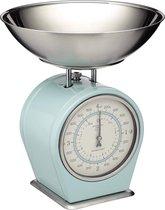 Mechanische Weegschaal Retro Keuken 4kg Vintage Stijl Kleur licht blauw