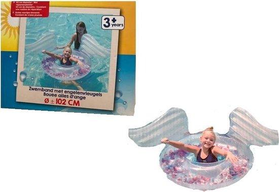 Opblaasbaar donut zwemband met engelenvleugels -  93 cm