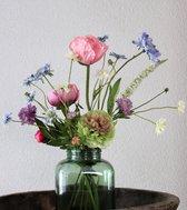 Zijden Boeket - Gemengd - 60 cm hoog - 8 Stelen - Kunstbloemen