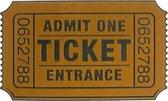 CKB - Bioscoop kaartje Deurmat - Cinema Movie Ticket- Admit one - Entrance - Bios - Grappige Deurmat - Tekst - Bruin - Kokos mat