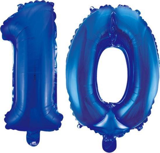 Folieballon 10 jaar blauw 41cm