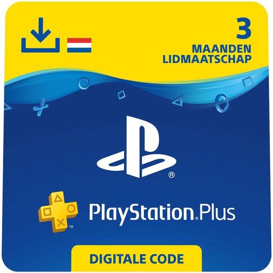 Sony Playstation Plus: 3 Maanden Lidmaatschap - PSN PlayStation Network - NL