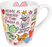 Blond Amsterdam Mok - Home is where the mom is Love - 350 ml