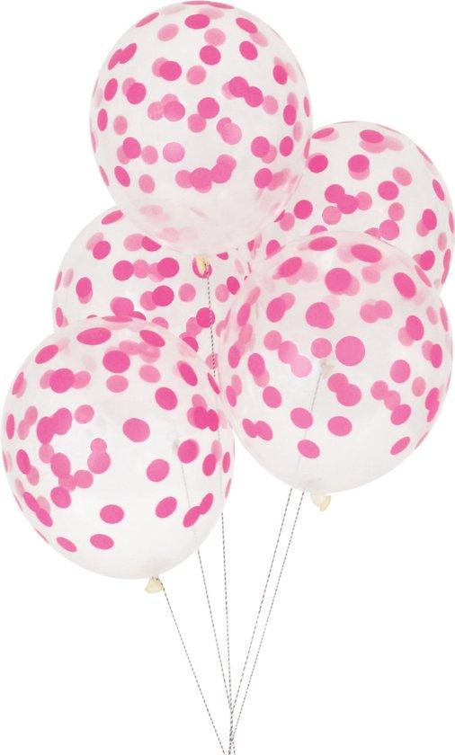 My Little Day - Ballonnen - Bollen donker roze - set 5 - 30cm