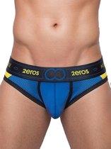 2EROS CoAktiv Brief Blauw maat L (32 inch t/m 33 inch)   Mannen Slip   Herenondergoed