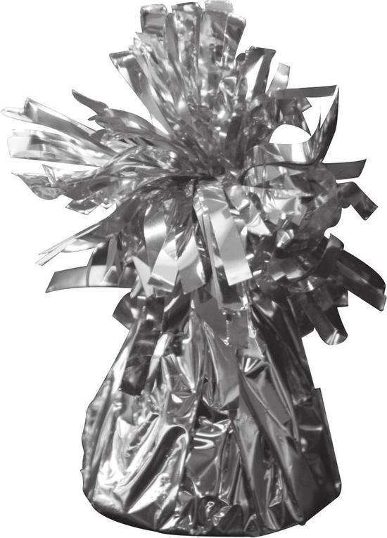 Set van 3x stuks ballon gewichtjes zilver 170 gram - Ballon gewichten voor helium ballonnen