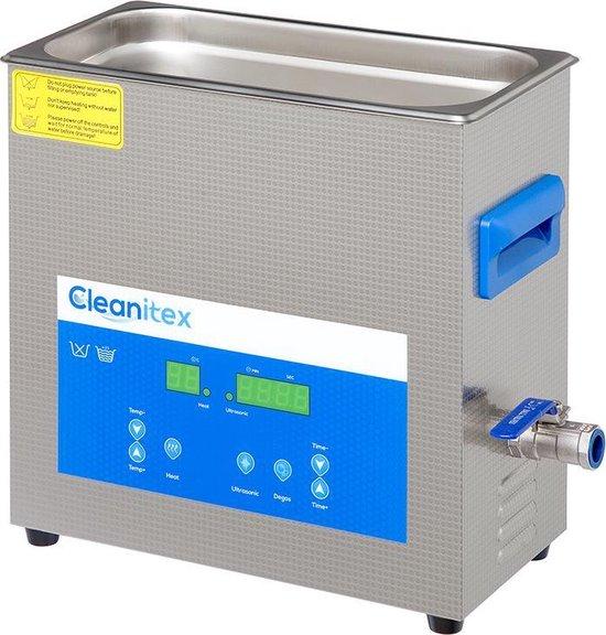 Cleanitex CXD6 - 6 liter set | Professionele ultrasoon reiniger met een krachtige reiniging (Ultrasoonbad, ultrasoon baden, reinigingsbad, ultrasone reiniger, carburateur reinigers, ultrasonic cleaner injectoren, brillen apparaat, grote ultrasoonbak)
