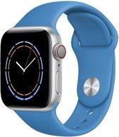 iWatch bandje – Pacific – 42/44 mm – Helder blauw – Apple Watch – Sportbandje – Blauw – Surf blue – S/M - Siliconen - Apple Watch Serie 3/2/1 – Apple Watch Serie 5/4