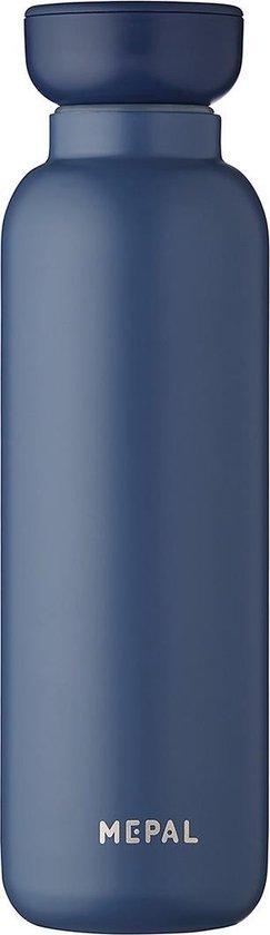Mepal – Isoleerfles Ellipse 500 ml – houdt je drankje 12 uur warm en 24 uur koud – Nordic denim – Geschikt voor bruiswater – Thermosfles – lekdicht