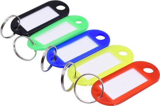 Sleutel labels - 5 STUKS - Keychain verschillende kleuren - Key tag sleutelhanger - Sleutel onderscheider - Naam labels - Sleutels organiseren - Sleutelhouder - Sleutelhanger - Sleutellabels - Bagagelabels - Reislabel - Sleutelhanger