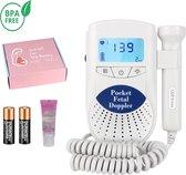 Professionele Doppler - Baby hartje monitor - zwangerschapscadeau - inclusief ultrasound gel en batterijen
