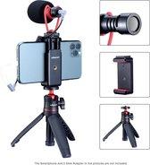 Ulanzi Smartphone Vlog KIT 2: Selfiestick/Statief, Telefoonhouder & Microfoon