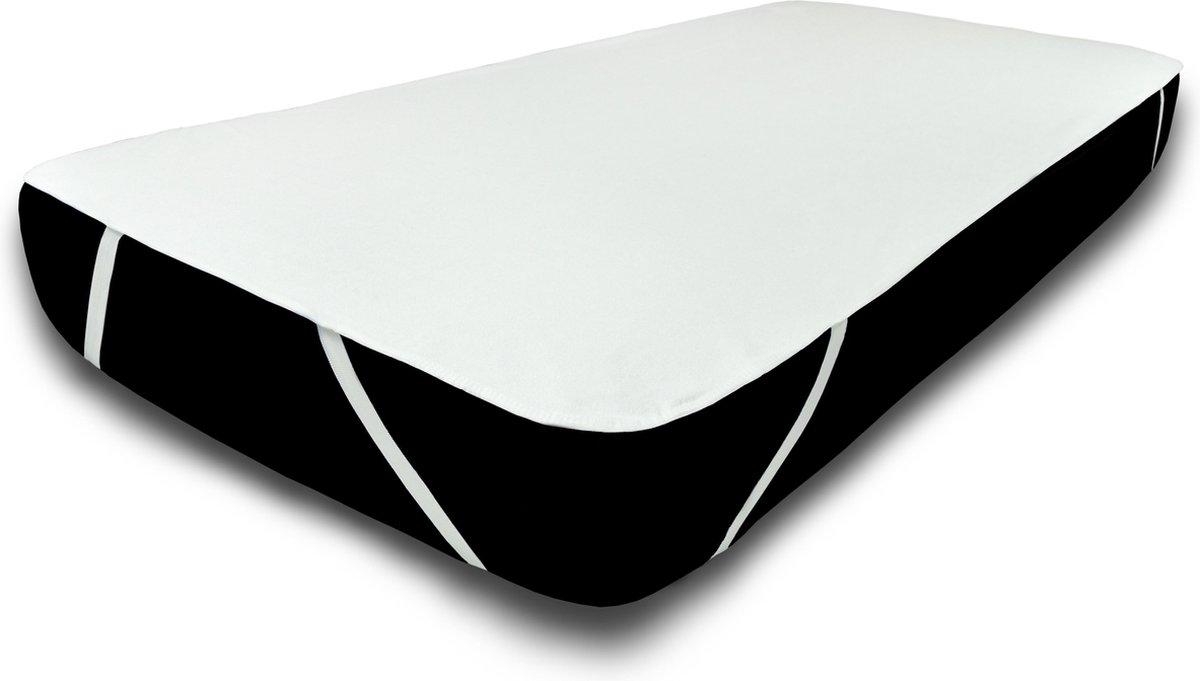 UNIFICATO waterdichte matrasbeschermer 140x200cm - 100% katoenen badstof - wit