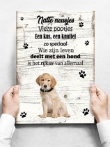 Wandbord hond: Labrador - 30 x 42 cm
