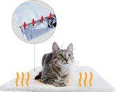Zelfwarmende mat voor Honden en Katten| Kattenmand | Wit | 60x45 cm | Wasbaar