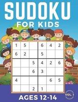 Sudoku For Kids Ages 12-14: Sudoku 6x6, Level