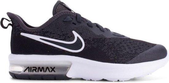 Nike Air Max Sequent 4 EP (GS) sneakers jongens zwartwit