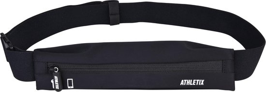 ATHLETIX® Sport Heuptas voor Dames & Heren - Hardloop Heupband voor iPhone & Samsung - Verstelbaar - Running Belt - Zwart