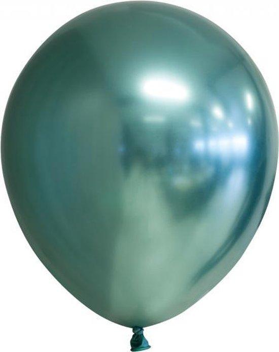 Chrome spiegel ballon groen