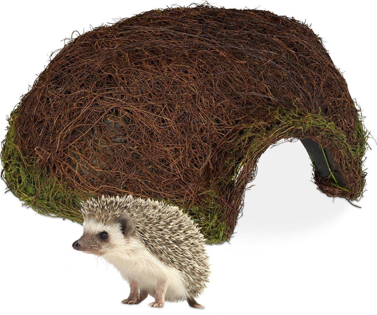 relaxdays egelhuis iglo - rotan - egelhuisje - egelmand - huisje voor egels - overwinteren