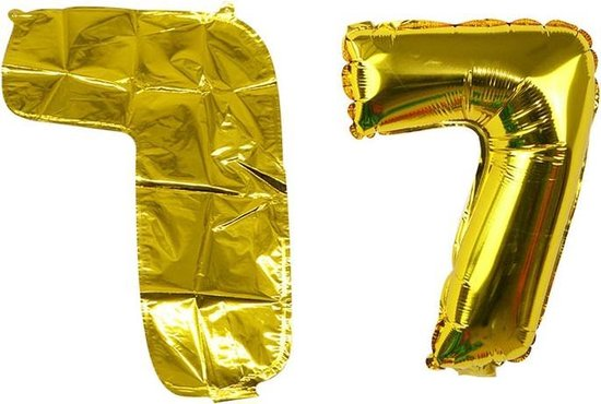 Ballon Goud Cijfer 7