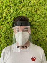 Face Shield Zwart Anti Condens - Gelaatsbeschermin