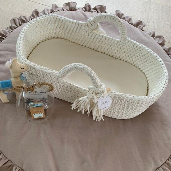 Mozes mandje wieg - Unieke hand-made gehaakte babymandjes - Mozesmandje - Wieg mand