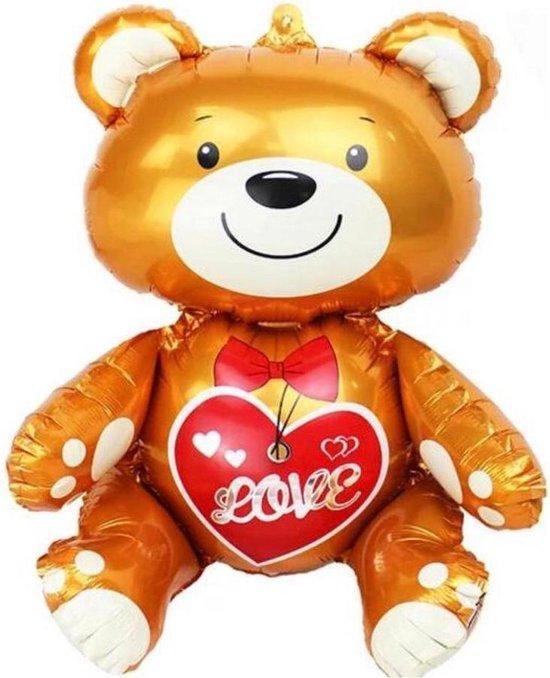 Beer Love ballon - Goud Beer ballon - 77 x 70 cm - Folie ballon - Reuze ballon - Valentijn - Anniversary - Verjaardag -Surprise