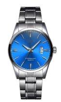 Stijlvol heren Horloge 40 mm blauw I-deLuxe verpakking