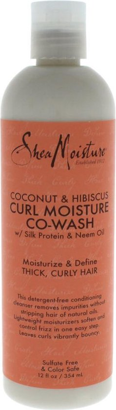 Shea Moisture Coconut & Hibiscus Co-Wash Conditioning Cleanser 354 ml