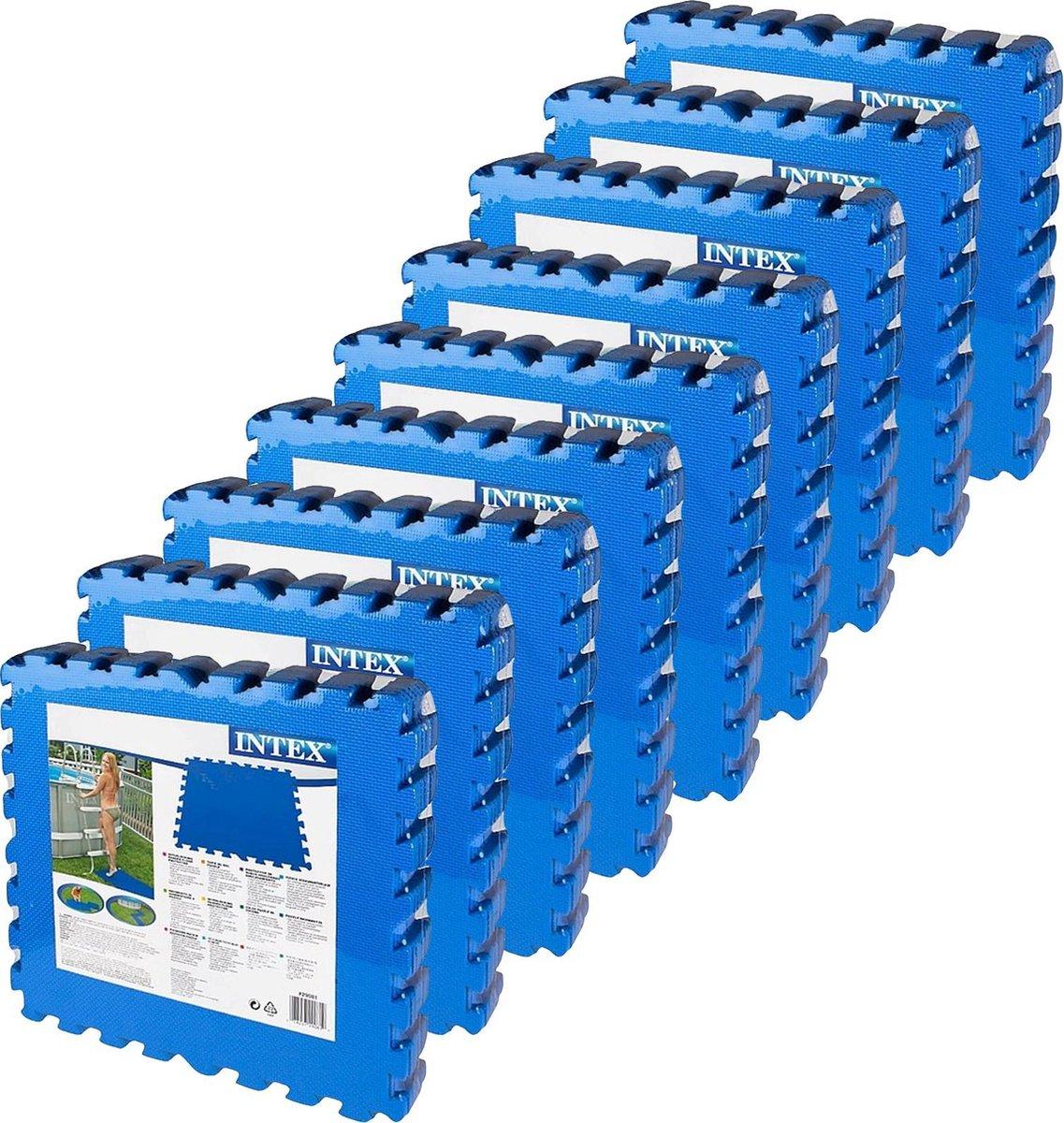 Intex - zwembad tegels - blauw - 50 x 50 cm - 72 tegels - 18 m2 - zwembad ondertegels