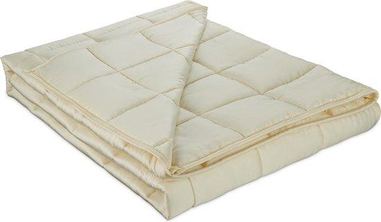 Kustaa Bamboe ZOMER Verzwaringsdeken - 152 x 203 cm - Gemaakt van Koel materiaal voor in de Zomer - Weighted Blanket - Creme - 152C