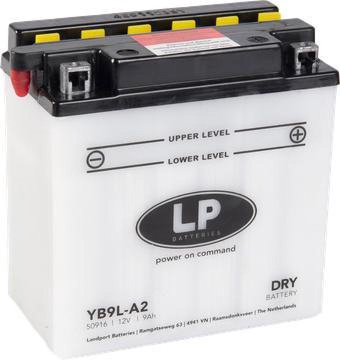 Landport Dry Motor/Scooter Accu YB9L-A2   12V / 9AH / 90CCA