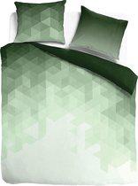 Dekbedovertrek katoensatijn Manhattan groen 140x200/220cm