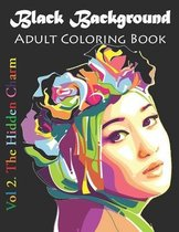 Black Background Adult Coloring Book
