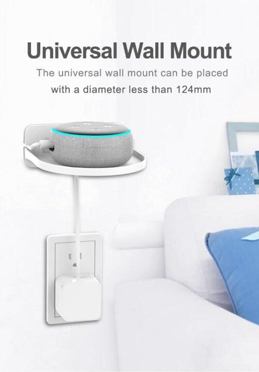 Slimme Speaker Standaard - Zwevend Plankje Voor Smart Speakers - Inclusief Bevestigingsmateriaal - Wit
